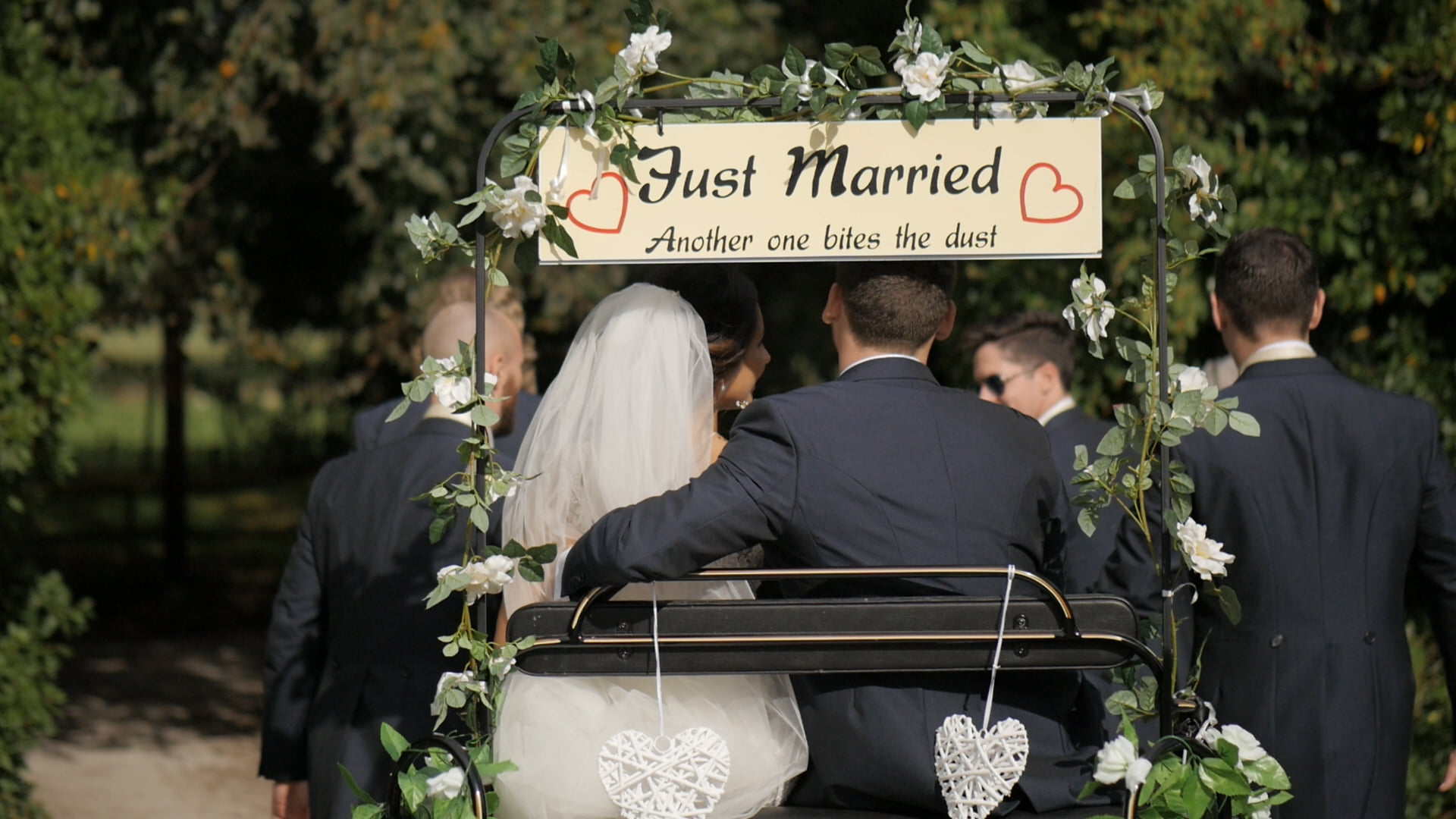 Wedding Videography - Just Married! Sign