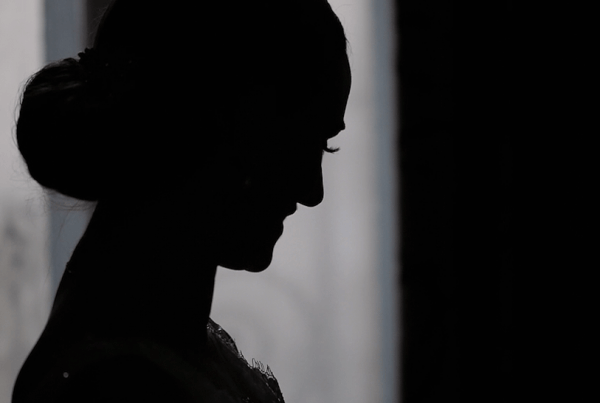 Wedding Videography - Bride Silhouette