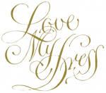 Love my dress wedding blog logo